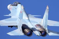 Sukhoi Su-30SM RF-95003 da força aérea do russo decola na base da força aérea de Kubinka Fotografia de Stock Royalty Free