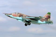 Sukhoi SU-25SM RF-92261 rosyjska siły powietrzne bierze daleko przy Kubinka bazą lotniczą Zdjęcia Royalty Free