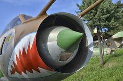 Sukhoi su-17 vliegtuigen van de veranderlijk-bereikvleugel stock afbeelding