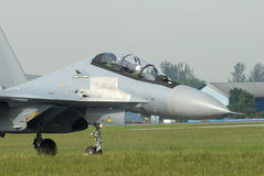 Sukhoi SU30 Flanker. Sukhoi SU30 flanker taxiing in Kuala Lumpur, Malaysia royalty free stock photography