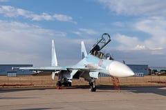 Sukhoi Su35 (北约报告名字: 侧面部队E) 免版税库存图片