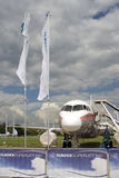 Sukhoi Superjet 100 στο διεθνές αεροδιαστημικό σαλόνι maks-2017 MAKS Στοκ Φωτογραφίες