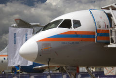 Sukhoi Superjet 100 at MAKS International Aerospace Salon MAKS-2017 Stock Images