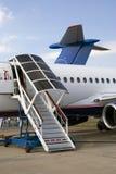 Sukhoi Superjet 100 at MAKS International Aerospace Salon Royalty Free Stock Images