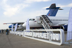 Sukhoi Superjet 100 at MAKS International Aerospace Salon Stock Photo