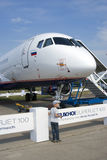Sukhoi Superjet 100 Royalty Free Stock Photography