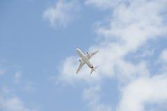 sukhoisuperjet för 100 flygplan Arkivfoto