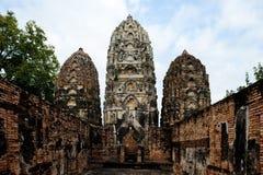 Sukhotai Thailand 20 November, 2017: Wat Si Sawai-tempel in het Historische Park van Sukhotai Royalty-vrije Stock Foto