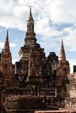 Sukhothai历史公园古老泰国的老的镇 图库摄影