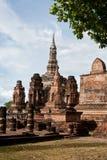 Sukhothai历史公园古老泰国的老的镇 库存图片