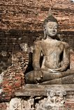 Sukhothai历史公园古老泰国的老的镇 免版税库存照片