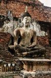 Sukhothai历史公园古老泰国的老的镇 库存照片