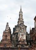 Sukhothai历史公园泰国古老Buddh的老镇 免版税库存图片