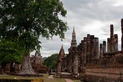 Sukhothai历史公园泰国古老Buddh的老镇 库存图片