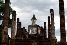 Sukhothai历史公园泰国古老Buddh的老镇 库存照片