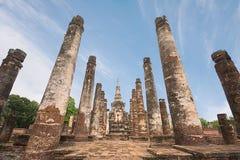 Sukhothai历史公园的,泰国古老塔 库存照片