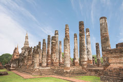 Sukhothai历史公园的,泰国古老塔 库存图片