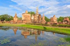 Sukhothai历史公园,老城镇 免版税库存图片