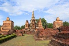 Sukhothai历史公园,老城镇 免版税库存照片