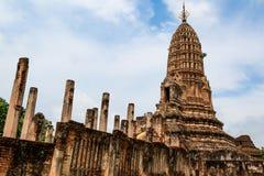 Sukhothai历史公园,老城镇 库存图片