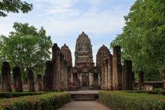 Sukhothai历史公园,老城镇 库存照片