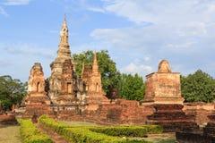 Sukhothai历史公园,老城镇 免版税图库摄影