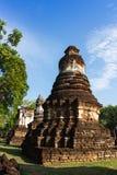 Sukhothai的,泰国古老塔 免版税图库摄影