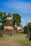 Sukhothai的,泰国古老塔 库存图片