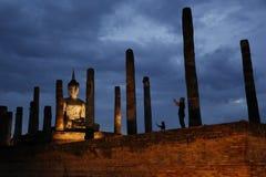 Sukhothai菩萨雕象 免版税图库摄影