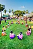 SUKHOTHAI, THAILAND-NOVEMBER 10 模仿减速火箭的生活方式和 免版税库存照片
