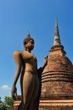 sukhothai статуи Будды Стоковая Фотография RF