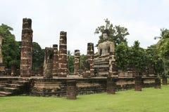 Sukhothai ancient temple buddha statue thailand Stock Images