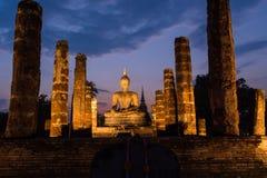Sukhothai archaeological site Stock Photos