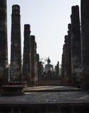 Sukhothai buddha kontur Arkivfoton
