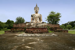 Sukhothai buddha statue temple ruins thailand Stock Image