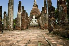 Sukhothai buddha temple ruins thailand Royalty Free Stock Images