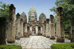 Sukhothai buddha temple ruins thailand Royalty Free Stock Photography