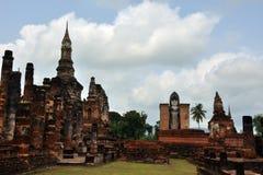 Sukhothai del mahathat di Wat Fotografie Stock Libere da Diritti