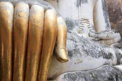 Sukhothai dourado dos dedos dos buddhas grandes Imagem de Stock