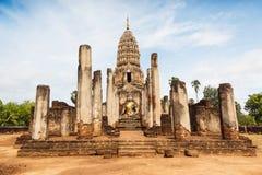 Sukhothai för ratanamahatatu för Wat phrasri Fotografering för Bildbyråer