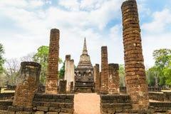 Sukhothai fördärvar den gamla staden Arkivbilder