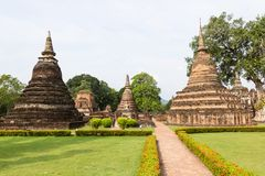 Sukhothai is a historical centre, and the first capital of Siam. Thought to be the origin of Thai art and culture it has been listed as a UNESCO World Heritage stock photography
