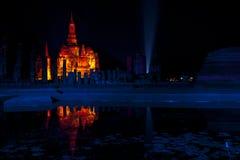 Sukhothai Historical Park. Sukhothai light and sound. Historical Park, Thailand Royalty Free Stock Images