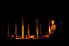 Sukhothai Historical Park. Sukhothai light and sound. Historical Park, Thailand Royalty Free Stock Image