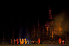 Sukhothai Historical Park. Sukhothai light and sound. Historical Park, Thailand Stock Photo