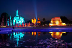 Sukhothai Historical Park. Sukhothai light and sound. Historical Park, Thailand Stock Photography