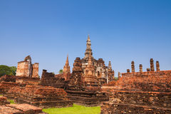 Sukhothai historical park. Buddhist temple ruins in Sukhothai hi Royalty Free Stock Photography