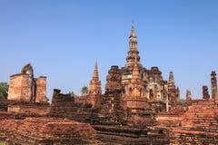 Sukhothai historical park. Buddhist temple ruins in Sukhothai hi Stock Photo