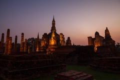 Sukhothai historical park. Buddhist temple ruins in Sukhothai hi Stock Image