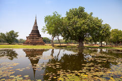 Sukhothai historical park. Buddhist temple ruins in Sukhothai hi Stock Photography